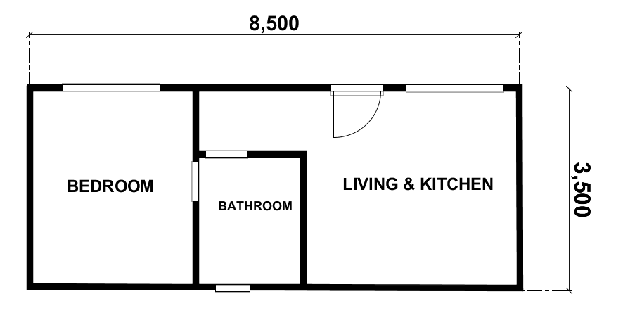 1 Bedroom Brunswick Kit Home by Bribuild