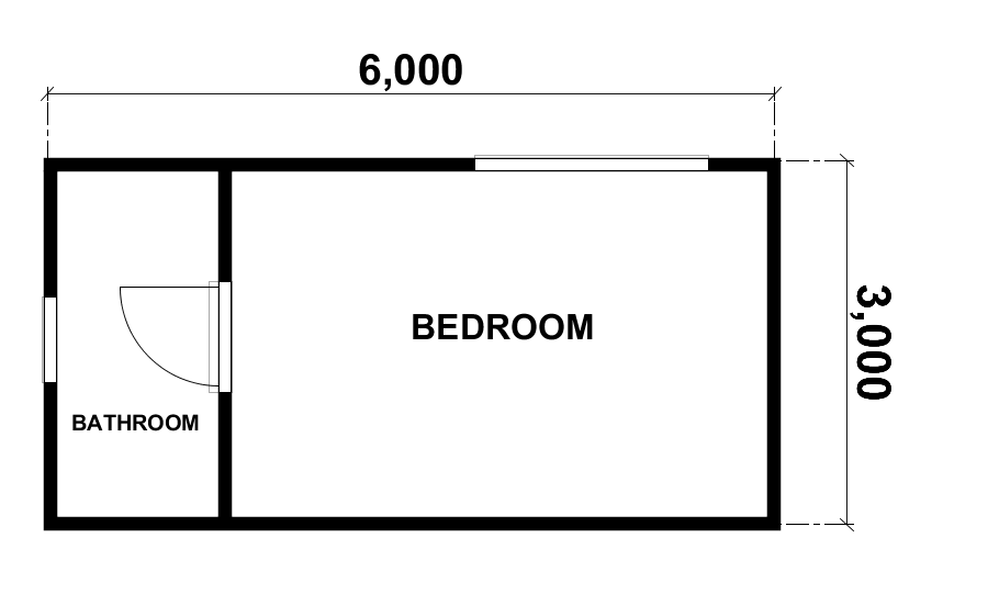 1 Bedroom Kingsbury Studio floorplan by Bribuild
