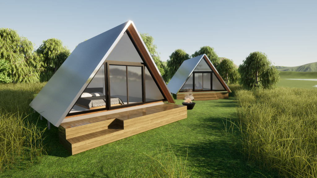 A-Frame Kit Cabins Mirboo by BRIbuild