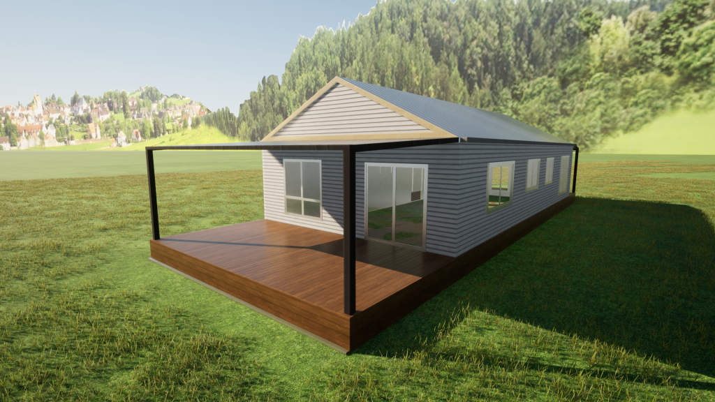 The Dawson 2 bedroom 1 Study Steel Frame Kit Home