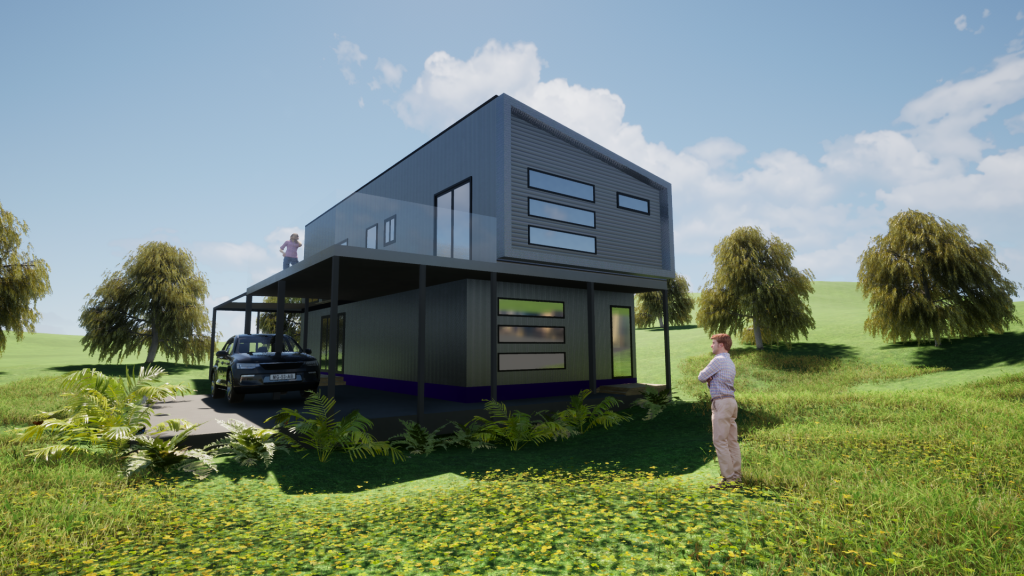 The Wyndham 4 Bedroom Steel Frame kit Home by BRIbuild