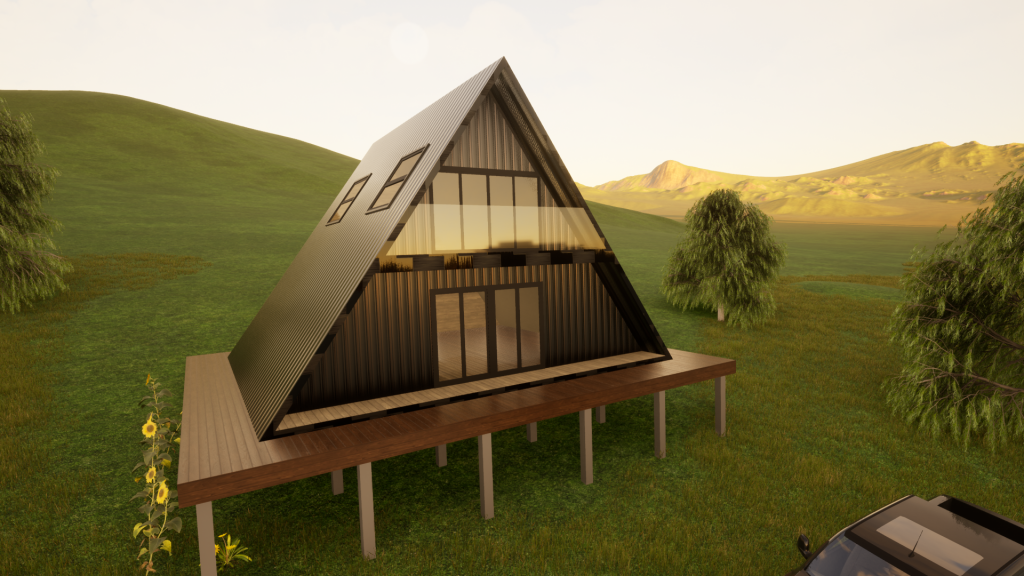Country Kit Home A-Frame Steel Frame by BRIbuild
