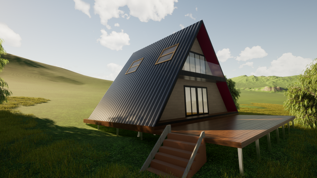 A-Frame Steel Frame Kit Homes Australia by BRIbuild